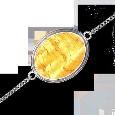 Bracelet Mono en Amboine clair